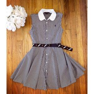 Ralph Lauren belted logo dress